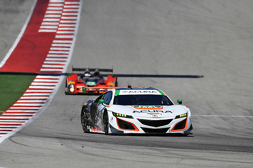 IMSA WeatherTech SportsCar Championship<br /> Advance Auto Parts SportsCar Showdown<br /> Circuit of The Americas, Austin, TX USA<br /> Saturday 6 May 2017<br /> 93, Acura, Acura NSX, GTD, Andy Lally, Katherine Legge<br /> World Copyright: Richard Dole<br /> LAT Images<br /> ref: Digital Image RD_COTA_17338