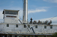 A Military band plays on the upper deck of the S.S. Nenana during Alaska Governor Sarah Palin's resignation ceremony and Sean Parnell's Inauguration.