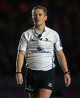 Referee Luke Pearce<br /> <br /> Photographer Bob Bradford/CameraSport<br /> <br /> Gallagher Premiership - Harlequins v Saracens - Saturday 6th October 2018 - Twickenham Stoop - London<br /> <br /> World Copyright &copy; 2018 CameraSport. All rights reserved. 43 Linden Ave. Countesthorpe. Leicester. England. LE8 5PG - Tel: +44 (0) 116 277 4147 - admin@camerasport.com - www.camerasport.com