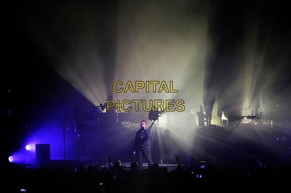 BRIGHTON, ENGLAND - NOVEMBER 27: Damon Albarn of 'Gorillaz' performing at Brighton Centre on November 27, 2017 in Brighton, England.<br /> CAP/MAR<br /> &copy;MAR/Capital Pictures