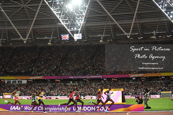 Mo Farah (GBR) takes the bell in the mens 10,000m. IAAF World athletics championships. London Olympic stadium. Queen Elizabeth Olympic park. Stratford. London. UK. 04/08/2017. ~ MANDATORY CREDIT Garry Bowden/SIPPA - NO UNAUTHORISED USE - +44 7837 394578