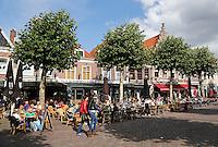 Terrassen op de Botermarkt in Haarlem