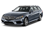 Front three quarter view of a 2014 Mercedes E350 Wagon2014 Mercedes E350 Wagon