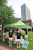 The Publix USA Bid tent during the Women's Professional Soccer (WPS) All-Star Fan Fest at Centennial Olympic Park in Atlanta, GA, on June 28, 2010.