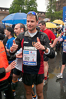 Milano, Alex Schwazer all'arrivo della Milano City Marathon --- Milan, Alex Schwazer at the arrival of the Milan City Marathon