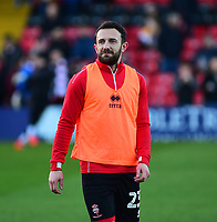 Lincoln City's Neal Eardley during the pre-match warm-up<br /> <br /> Photographer Andrew Vaughan/CameraSport<br /> <br /> The EFL Sky Bet League Two - Lincoln City v Port Vale - Tuesday 1st January 2019 - Sincil Bank - Lincoln<br /> <br /> World Copyright © 2019 CameraSport. All rights reserved. 43 Linden Ave. Countesthorpe. Leicester. England. LE8 5PG - Tel: +44 (0) 116 277 4147 - admin@camerasport.com - www.camerasport.com