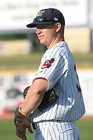 June 11th 2008:  Pitcher Ryan Miller of the Lake County Captains, Class-A affiliate of the Cleveland Indians, during a game at Classic Park in Eastlake,OH.  Photo by:  Mike Janes/Four Seam Images
