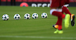 The Champions League match ball during the Champions League playoff round at the Anfield Stadium, Liverpool. Picture date 23rd August 2017. Picture credit should read: Lynne Cameron/Sportimage