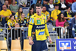 Rhein Neckar Loewe Andy Schmid (Nr.2) ruft beim Spiel in der Handball Bundesliga, Rhein Neckar Loewen - VfL Gummersbach.<br /> <br /> Foto &copy; PIX-Sportfotos *** Foto ist honorarpflichtig! *** Auf Anfrage in hoeherer Qualitaet/Aufloesung. Belegexemplar erbeten. Veroeffentlichung ausschliesslich fuer journalistisch-publizistische Zwecke. For editorial use only.