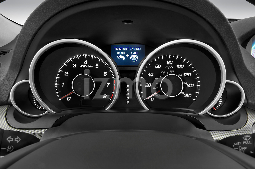 Instrument panel close up detail view of a 2009 - 2014 Acura TL SH AWD Sedan.