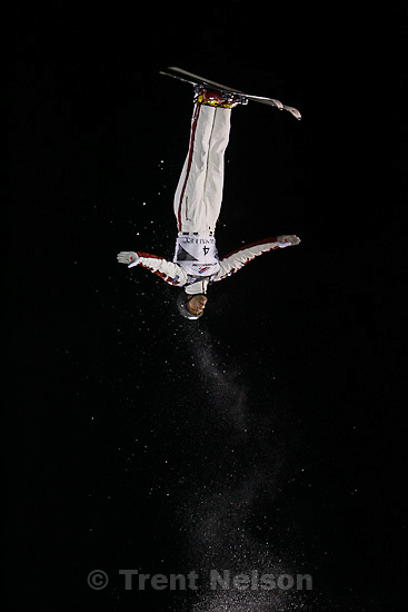 Trent Nelson  |  The Salt Lake Tribune.Warren Shouldice, Canada, competing in the FIS Freestyle World Ski Championships, Aerials Final at Deer Valley, Utah, Friday, February 4, 2011.
