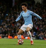 Manchester City's Leroy Sane<br /> <br /> Photographer Rich Linley/CameraSport<br /> <br /> UEFA Champions League Round of 16 Second Leg - Manchester City v FC Schalke 04 - Tuesday 12th March 2019 - The Etihad - Manchester<br />  <br /> World Copyright © 2018 CameraSport. All rights reserved. 43 Linden Ave. Countesthorpe. Leicester. England. LE8 5PG - Tel: +44 (0) 116 277 4147 - admin@camerasport.com - www.camerasport.com