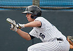 March 30, 2012:   Nevada Wolf Pack's Ryan Teel bunts against the BYU Cougars during their NCAA baseball game played at Peccole Park on Friday afternoon in Reno, Nevada.
