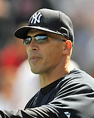 Baltimore, MD - April 9, 2009 -- New York Yankee manager Joe Girardi watches batting practice prior to the game against the Baltimore Orioles at Oriole Park at Camden Yards in Baltimore, MD on Thursday, April 9, 2009..Credit: Ron Sachs / CNP.(RESTRICTION: NO New York or New Jersey Newspapers or newspapers within a 75 mile radius of New York City)