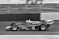 HAMPTON, GA - APRIL 22: Bobby Unser drives his Penske/Cosworth TC during the Gould Twin Dixie 125 event on April 22, 1979, at Atlanta International Raceway near Hampton, Georgia.