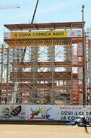 BRASILIA / DISTRITO FEDERAL / BRASIL (26.01.2012) - Obras para a Copa do Mundo de Futebol 2014 no antigo Estadio Mane Garrincha, que foi  demolido em 2010, para dar lugar ao novo Estadio Nacional de Brasília.. Foto: Douglas Magno / News Free
