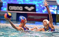 Maartje Keuning of the Netherlands, Arianna Garibotti of Italy  <br /> Firenze 19-11-2019 Piscina Nannini <br /> water polo Women's World League <br /> Italy ITA - Nederland NED <br /> Photo Andrea Staccioli/Deepbluemedia/Insidefoto