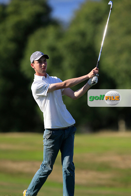 Tommy O'Driscoll (Ring of Kerry) on the 18th during Round 4 of the Ulster Boys' Amateur Open Championship in Clandeboye Golf Club on Thursday 10th July 2014.<br /> Picture:  Thos Caffrey / www.golffile.ie