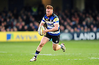 Rory Jennings of Bath Rugby goes on the attack. Aviva Premiership match, between Bath Rugby and Harlequins on February 18, 2017 at the Recreation Ground in Bath, England. Photo by: Patrick Khachfe / Onside Images
