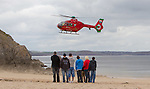 Helicopter Emergency Barafundle Beach, Pembrokeshire, 6th April 2012