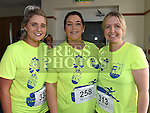 Amy White, Karen McCormack and Lynn Scott who took part in the Seamie Weldon 5K Run in Ardee. Photo:Colin Bell/pressphotos.ie