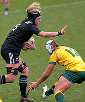 Rebecca Wood in action during the 2017 International Women's Rugby Series rugby match between the NZ Black Ferns and Australia Wallaroos at Rugby Park in Christchurch, New Zealand on Tuesday, 13 June 2017. Photo: Dave Lintott / lintottphoto.co.nz