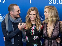 Darren Aronofsky, Michelle Pfeiffer, Jennifer Lawrence at the &quot;Mother!&quot; photocall, 74th Venice Film Festival in Italy on 5 September 2017.<br /> <br /> Photo: Kristina Afanasyeva/Featureflash/SilverHub<br /> 0208 004 5359<br /> sales@silverhubmedia.com