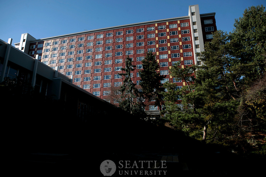02092011 - Seattle University's Campion Dorm. One of many housing options offered by Housing and Residence Life for Seattle U students.