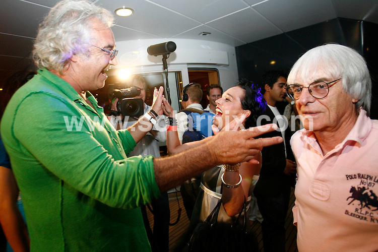 **ALL ROUND PICTURES FROM SOLARPIX.COM**.**SYNDICATION RIGHTS FOR UK AND SPAIN ONLY**.pictured at the Fly Kingfisher party on the Indian Empress in the Harbour of Monaco. during the 62nd Annual Cannes Film Festival. Monaco. 21 May 2009..This pic: Flavio Briatore and Bernie Ecclestone..JOB REF: 9073 CPR (Batmitsch) DATE: 21_05_2009.**MUST CREDIT SOLARPIX.COM OR DOUBLE FEE WILL BE CHARGED**.**ONLINE USAGE FEE GBP 50.00 PER PICTURE - NOTIFICATION OF USAGE TO PHOTO @ SOLARPIX.COM**.**CALL SOLARPIX : +34 952 811 768 or LOW RATE FROM UK 0844 617 7637**