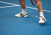 Hilversum, The Netherlands, March 12, 2016,  Tulip Tennis Center, NOVK, shoes on plexipave<br /> Photo: Tennisimages/Henk Koster