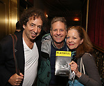 Isabel Keating and Martin Moran attend Broadway's 'Boys in the Band' hosted Midnight Performance of 'Three Tall Women' to Honor Director Joe Mantello at the Golden Theatre on May 17, 2018 in New York City.