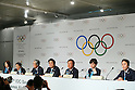 (L to R) <br /> Mami Sato, <br /> Masato Mizuno, <br /> Tsunekazu Takeda, <br />  Shinzo Abe, <br />  Naoki Inose, <br /> Christel Takigawa, <br /> Yuki Ota, <br /> SEPTEMBER 7, 2013 : <br /> The press conference after their presentation of 2020 Summer Olympic Games bid final presentation during the 125th International Olympic Committee (IOC) session in Buenos Aires Argentina, on Saturday September 7, 2013. <br /> (Photo by YUTAKA/AFLO SPORT) [1040]