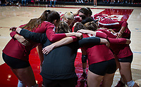 STANFORD, CA - September 9, 2018: Team at Maples Pavilion. The Stanford Cardinal defeated #1 ranked Minnesota 3-1 in the Big Ten / PAC-12 Challenge.