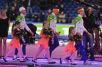 SCHAATSEN: HEERENVEEN: IJsstadion Thialf, 16-11-2012, Essent ISU World Cup, Season 2012-2013, Men 5000 meter Division A, podium, Jan Blokhuijsen (NED), Sven Kramer (NED), Jorrit Bergsma (NED), ©foto Martin de Jong