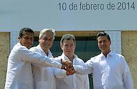 VIII Cumbre Alianza del Pacífico / VIII Summit Alianza del Pacifico, Cartagena, Colombia, 10-02-2014
