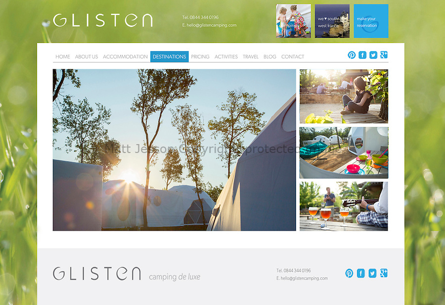 CLIENT: GLISTEN Camping www.glistencamping.com // <br />