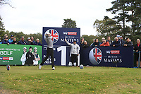 Steven Brown (ENG) on the 15th tee during Round 1of the Sky Sports British Masters at Walton Heath Golf Club in Tadworth, Surrey, England on Thursday 11th Oct 2018.<br /> Picture:  Thos Caffrey | Golffile<br /> <br /> All photo usage must carry mandatory copyright credit (© Golffile | Thos Caffrey)
