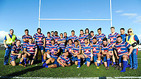The Horowhenua Kapiti team pose for a team photo after the Heartland Championship rugby match between Horowhenua Kapiti and Mid-Canterbury at Easton Park in Foxton, New Zealand on Saturday, 25 August 2018. Photo: Dave Lintott / lintottphoto.co.nz