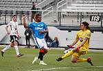 Alfredo Morelos has his shot saved by the keeper