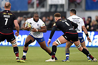 Beno Obano of Bath Rugby in possession. Aviva Premiership match, between Saracens and Bath Rugby on April 15, 2018 at Allianz Park in London, England. Photo by: Patrick Khachfe / Onside Images