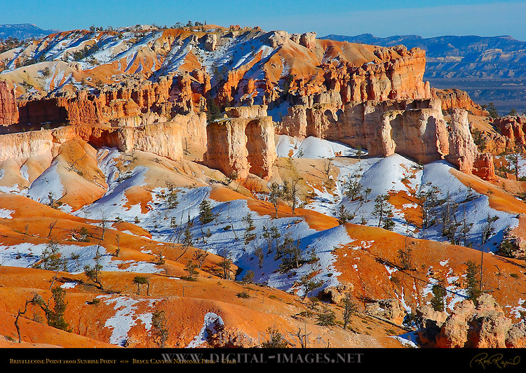 Bristlecone Point in Winter from Sunrise Point, Bryce Canyon National Park, Utah