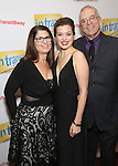 Margo Seibert with her parents attends the Broadway Opening Night Performance Press Reception for  'In Transit' at Circle in the Square Theatre on December 11, 2016 in New York City.