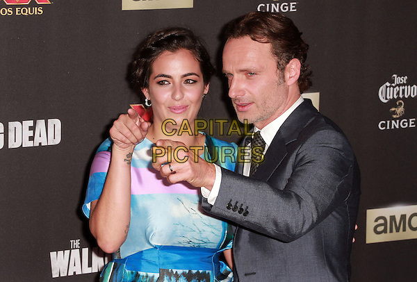 2 October 2014 - Universal City, California -  Alanna Masterson, Andrew Lincoln attend AMC celebrates the season five premiere of its hit series, &ldquo;The Walking Dead,&rdquo;  at the  AMC Universal Citywalk Stadium 19/IMAX.  <br /> CAP/ADM/TBO<br /> &copy;Theresa Bouche/AdMedia/Capital Pictures