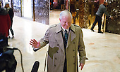 Former United States Secretary of Defense Robert Gates talks with reporters in the lobby of Trump Tower following a meeting with a meeting with President-elect Donald Trump in New York, New York, USA, 02 December 2016.<br /> Credit: Justin Lane / Pool via CNP