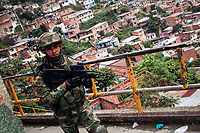 Colombia Army presence during violence increase in Medellin