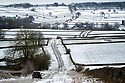 10/02/20<br /> <br /> A WV Passat makes its way along a picturesque snowy lane near Flagg, Derrbyshire.<br /> <br /> Snow falls on the Derbyshire Peak District.<br /> <br /> All Rights Reserved: F Stop Press Ltd.  <br /> +44 (0)7765 242650 www.fstoppress.com