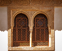 Spanien, Andalusien, Granada: Alhambra - Fenster, maurischer Baustil | Spain, Andalusia, Granada: Alhambra
