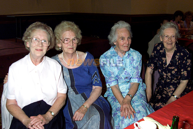 Mary Boyle, Phil Carton, Theresa Hill and Kathleen Clinton at the Senior Citizens Club dance in the Bridgeford..Picture: Paul Mohan/Newsfile