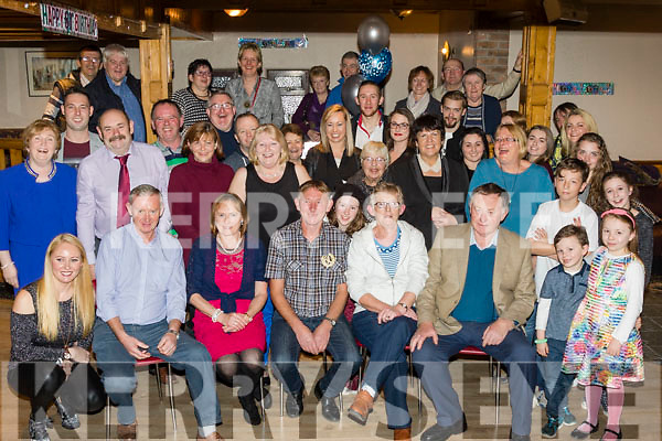 Birthday<br /> -----------<br /> Crohane O'Grady, Firies, seated centre, had a mighty night celebrating his 60th birthday in Sheehans bar in the village along with many friends and family.