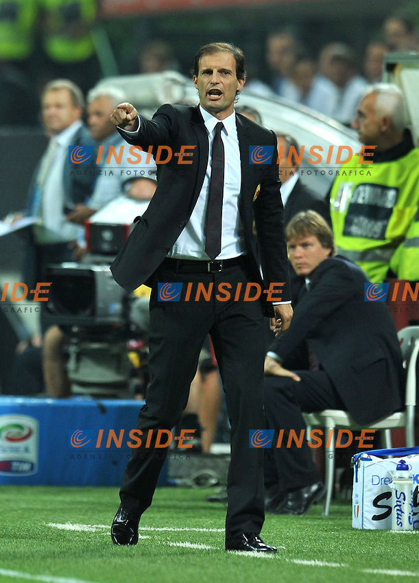 "Massimiliano ALLEGRI (Milan).Milano 9/9/2011 Stadio ""Giuseppe Meazza"".Serie A 2011/2012.Football Calcio Milan Vs Lazio.Foto Insidefoto Alessandro Sabattini."